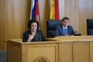 Т.Д. Зражевская во время выступления на заседании в воронежской областной Думе